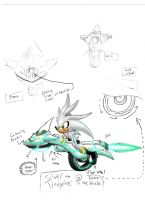 Silver the Hedgehog Hover Bike by magicwaffles123