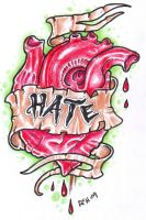 Heart O Hate by vikingtattoo