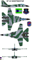 SF-14 Shootingstar  aggressor 3 by bagera3005
