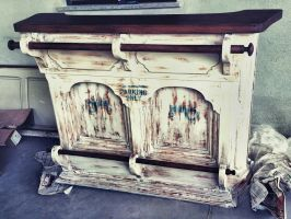 shabby chic bar counter by MissTractors