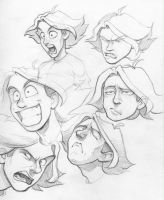 Funny Faces: 3 by PreyingDantis