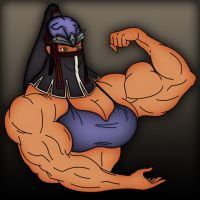 Master Ninja Benikage colored by muscle82002