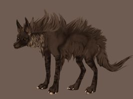 Brown hyena by Biomecka by ArtOfThePawAndFang