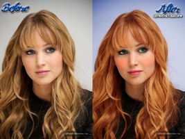 Jennifer Lawrence Makeover 1 by justadistrict12girl