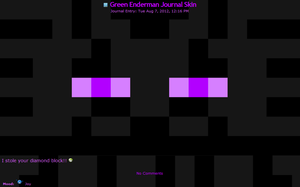 Purple Enderman Journal skin (FREE!) by TVZRandomness