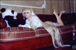Chobit on sofa by AGflower