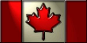 Canadian flag 3d by kennysback