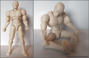 3D printed generic male action figure body B by hauke3000