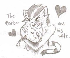 Sweeny Paw- A Barber and His Wife by DJ-Sky-Storm-117