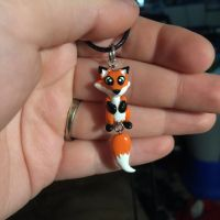 Hanging fox necklace by LittleCLUUs