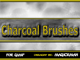Charcoal Brushes for Gimp by blueeyedmagickman