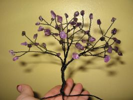 wire wrapped gem tree by mellibelly