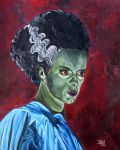 The bride of Frankenstein by JosefVonDoom
