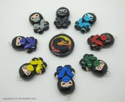 Mortal Kombat Ninja Charms by egyptianruin