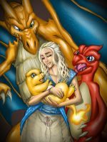 Mother of Dragons...and Pokemon by darkeblue