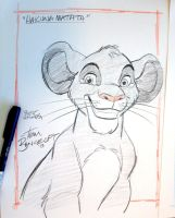 Simba Charity Sketch by tombancroft