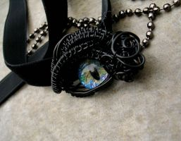Little World Dragon Eye Glow in the Dark Choker by LadyPirotessa