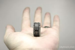 Bar code ring III by IMNIUM