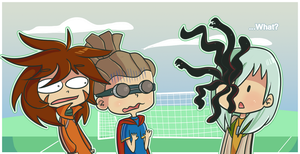What's under your eye patch -- OHMYGOD by ecokitty