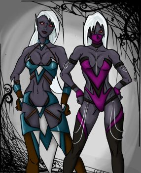 The Twins by harleygiggles