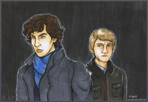 Sherlock and John by HolliGenet