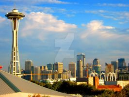 Seattle Skyline by Sing-Down-The-Moon