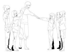 Team 7 from begining to end Lineart by SH178