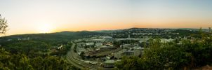 Sunset Panorama by haxxy