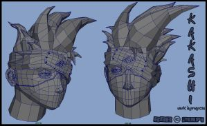 Kakashi wireframes model by B0R