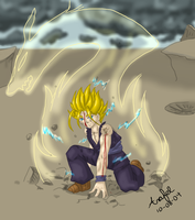 gohan-first commission :heart: by arafel