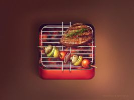 Grill iOS icon by brainchilds