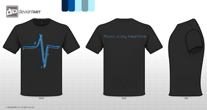 Music Is My Heartline. (Design Two) by iMouseNano