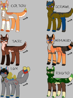 Male Canine Breedables 6 - Open by KittehzAdopts