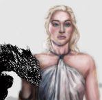 Daenerys adding color 2 by Hold-Your-Fire