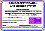 Doctor Dangerous Game-Fi Certificate by LevelInfinitum
