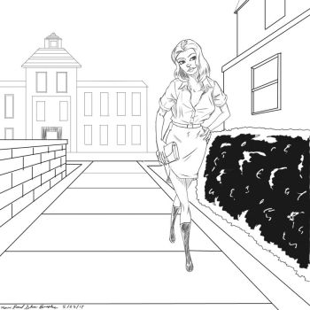 Woman on Campus by KevinPSB4