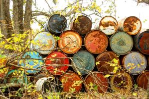 Metal Barrels In Decay by Merhlin