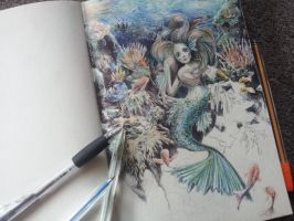 Ball point mermaid WIP by MCVD