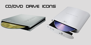 Disc Drive Icons by James-Dart