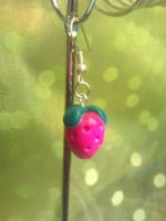 strawberry earring by rainmpo