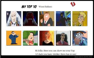 My Top 10 Worst Fathers by Nicktoons4ever