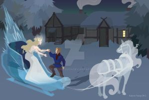 Snow Queen and Kay by Fatestouch