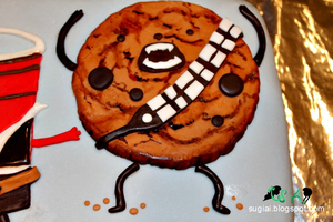 Chewbacca Cookie Detail by SugiAi