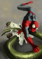 Spiderman vs Lizard by nevreme
