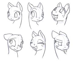 Sketch 3-2 Applejack Expressions by Geomancing