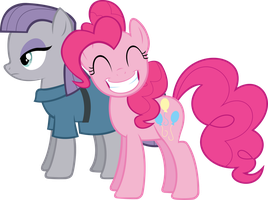 Pinkie and Maud Pie by Axelerr3