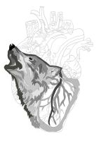 Wolf In Heart work 3 by daylover1313