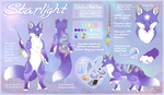 Starlight Official Reference Sheet by DreamingFoxes