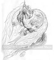 Whitefire Phoenix sketch by rachaelm5