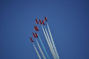 Red Arrows III by rayrussell2000uk